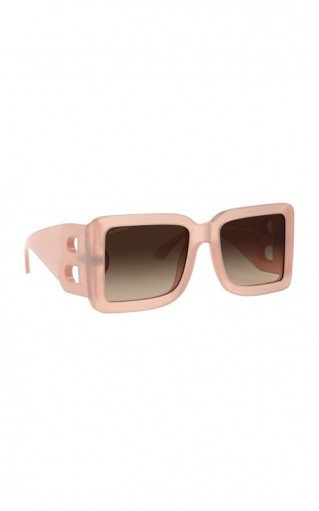 Burberry Pink Logo Oversized Square-Frame Acetate Sunglasses / large designer sunnies