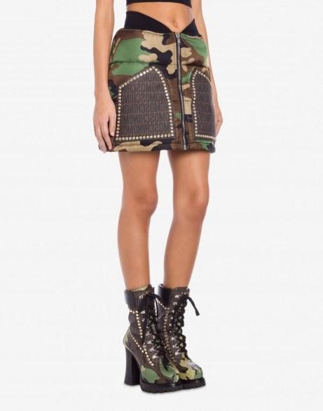 LOST & FOUND NYLON MINI SKIRT / Moschino clothing - flipped