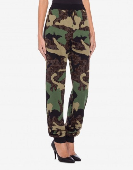 LOST & FOUND WOOL JOGGING / camouflage joggers - flipped