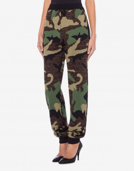 LOST & FOUND WOOL JOGGING / camouflage joggers