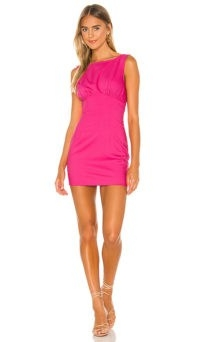 Lovers + Friends Ligia Mini Dress ~ lipstick pink