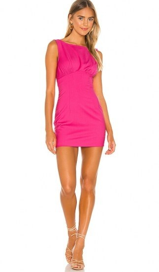 Lovers + Friends Ligia Mini Dress ~ lipstick pink - flipped