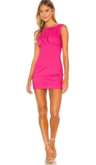 Lovers + Friends Ligia Mini Dress ~ lipstick pink