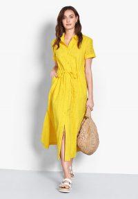 hush Lyon Broderie Cotton Dress Yellow / sunny summer dresses
