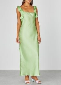 MAGGIE MARILYN Cover Girl mint silk dress | green luxe slip dresses