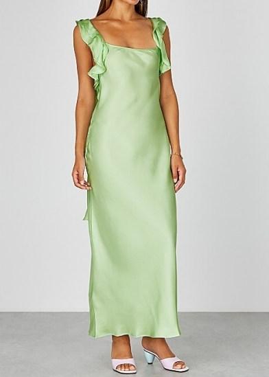 MAGGIE MARILYN Cover Girl mint silk dress | green luxe slip dresses