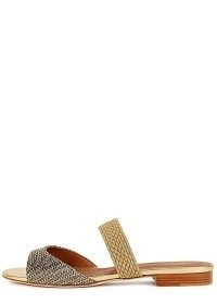 MALONE SOULIERS Milena 10 gold leather and Lurex sandals ~ metallic mules