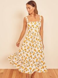 Lemon print dresses | REFORMATION Manet Dress Lemonade