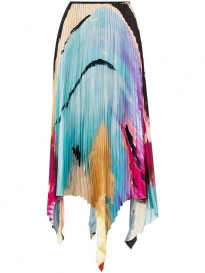 Marques'Almeida Paul Morrow graphic-print pleated skirt - flipped