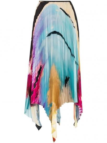 Marques'Almeida Paul Morrow graphic-print pleated skirt