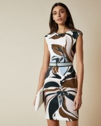 TED BAKER LIZIIEY Masquerade printed bodycon dress