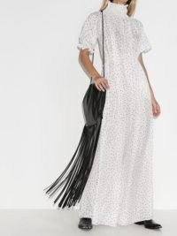 Masterpeace polka dot high neck maxi dress
