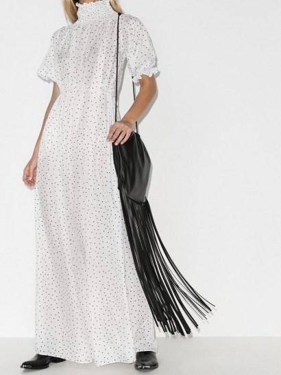Masterpeace polka dot high neck maxi dress - flipped