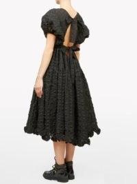 CECILIE BAHNSEN Maya cutout tie-back cloqué dress ~ ruffled back detail dresses