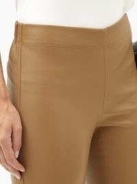 JOSEPH Mid-rise leather leggings ~ camel coloured skinnies ~ figure-hugging trousers
