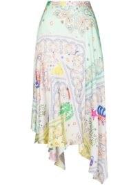 Mira Mikati asymmetric paisley-print midi skirt / uneven hemlines / asymmetrical skirts