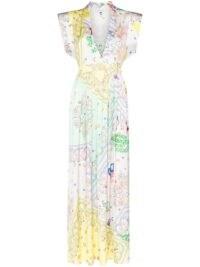 Mira Mikati paisley-print dress / mixed prints / deep V-necklines