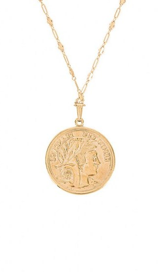 MIRANDA FRYE Harlow Chain & Paris Charm | French look disc pendants | coins | coin pendant necklaces - flipped