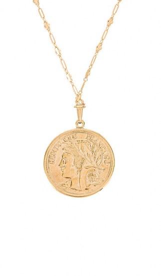 MIRANDA FRYE Harlow Chain & Paris Charm | French look disc pendants | coins | coin pendant necklaces