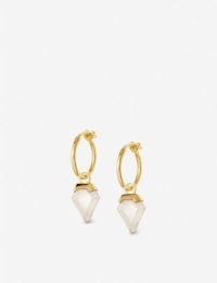 MISSOMA Shield 18ct yellow gold-plated vermeil and quartz hoop earrings