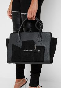 Manière De Voir MULTI POCKET CITY BAG BLACK | tote bags