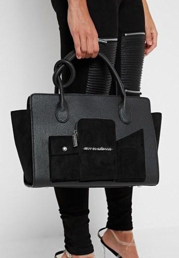 Manière De Voir MULTI POCKET CITY BAG BLACK | tote bags - flipped