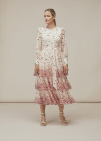 WHISTLES EASTERN BLOSSOM DRESS / feminine tiered dresses
