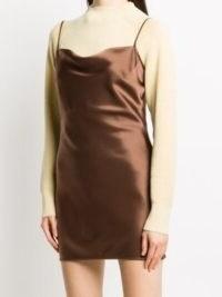 Nanushka Lotti mini slip dress | fluid fabric cami dresses