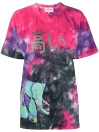 Natasha Zinko graphic print tie-dye T-shirt / multicoloured short sleeve tee