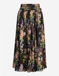 NEEDLE AND THREAD Floral Diamond Elsa high-waist chiffon midi skirt / metallic detail skirts