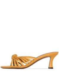 NEOUS Lottis 55mm sandals desert yellow / strappy knot detail mule