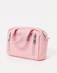 Nunoo mini Donna cross body bag in smooth pink / crossbody bags