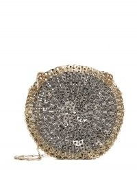Paco Rabanne 1969 Skyline circle shoulder bag / metal circular evening bags
