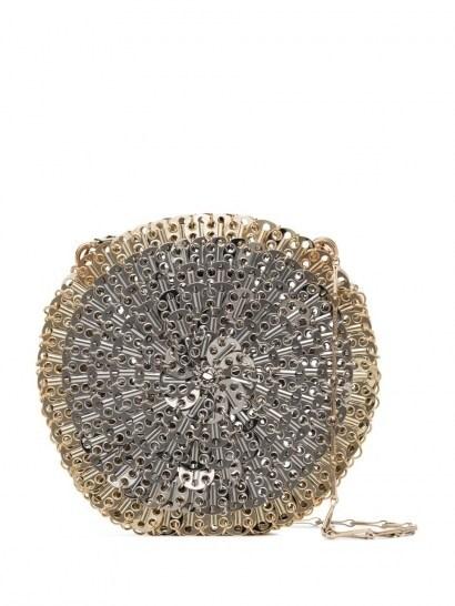 Paco Rabanne 1969 Skyline circle shoulder bag / metal circular evening bags - flipped