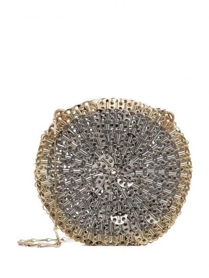 Paco Rabanne 1969 Skyline circle shoulder bag / metal circular evening bags