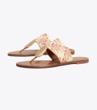 TORY BURCH PATOS DISK SANDAL NEUTRAL WOVEN