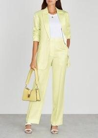 3.1 PHILLIP LIM Pale yellow straight-leg twill trousers / fresh colours