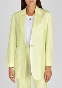 3.1 PHILLIP LIM Pale yellow twill blazer / overprinted blazers