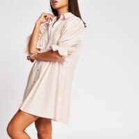 River Island Pink mini shirt dress | casual and feminine