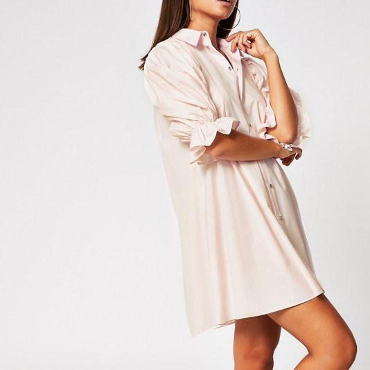 River Island Pink mini shirt dress | casual and feminine - flipped