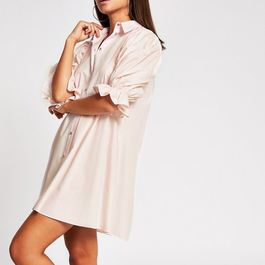 River Island Pink mini shirt dress | casual and feminine