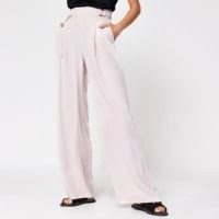 RIVER ISLAND Pink side buckle wide leg trousers