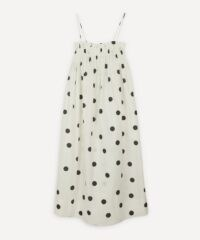 GANNI Polka-Dot Strappy Dress / empire line dresses
