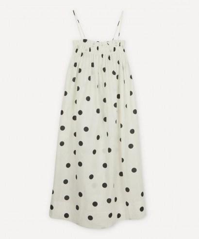 GANNI Polka-Dot Strappy Dress / empire line dresses - flipped