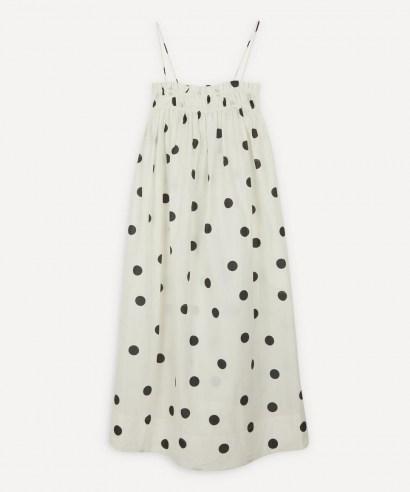 GANNI Polka-Dot Strappy Dress / empire line dresses