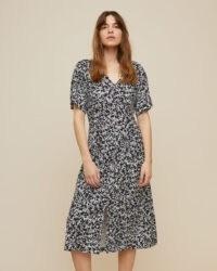 JIGSAW POPPY SILHOUETTE MIDI DRESS / printed day dresses