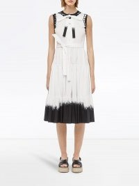 Prada dip-dye midi dress / white and black sleeveless dresses