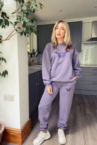TOPSHOP Purple Butterfly Sweatshirt ~ printed sweatshirts