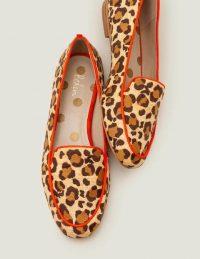 Rebecca Raffia Loafers – Natural Raffia/ Orange Sunset / flat leopard loafer
