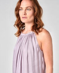 JIGSAW RECYCLED CROCUS DRAPE GATHERED CAMI Lilac Wash / loose fit camisole tops